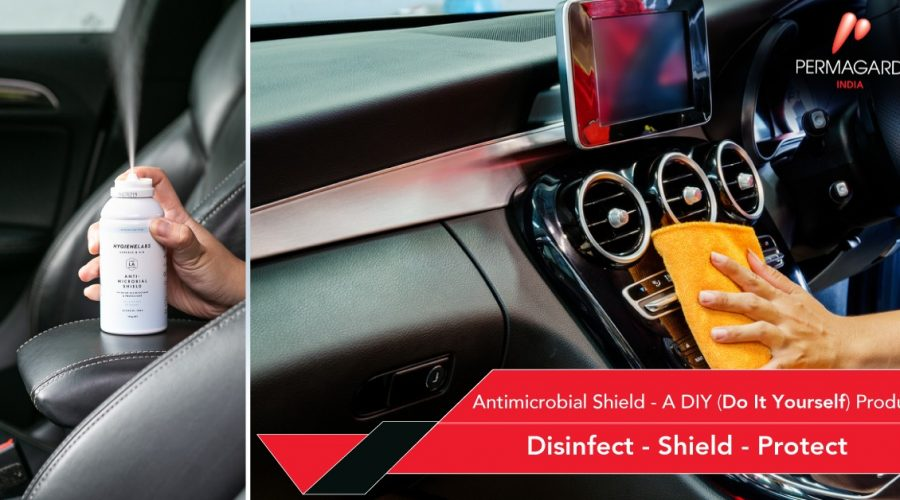 Antimicrobial shield diy disinfect shield protect